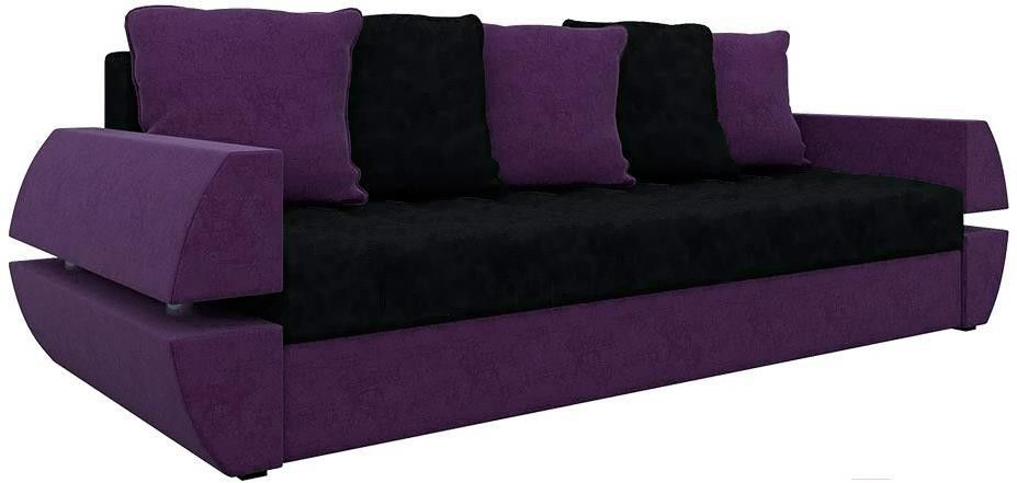 Диван Mebelico Атлант Т 64 микровельвет фиолетовый/черный - фото 3