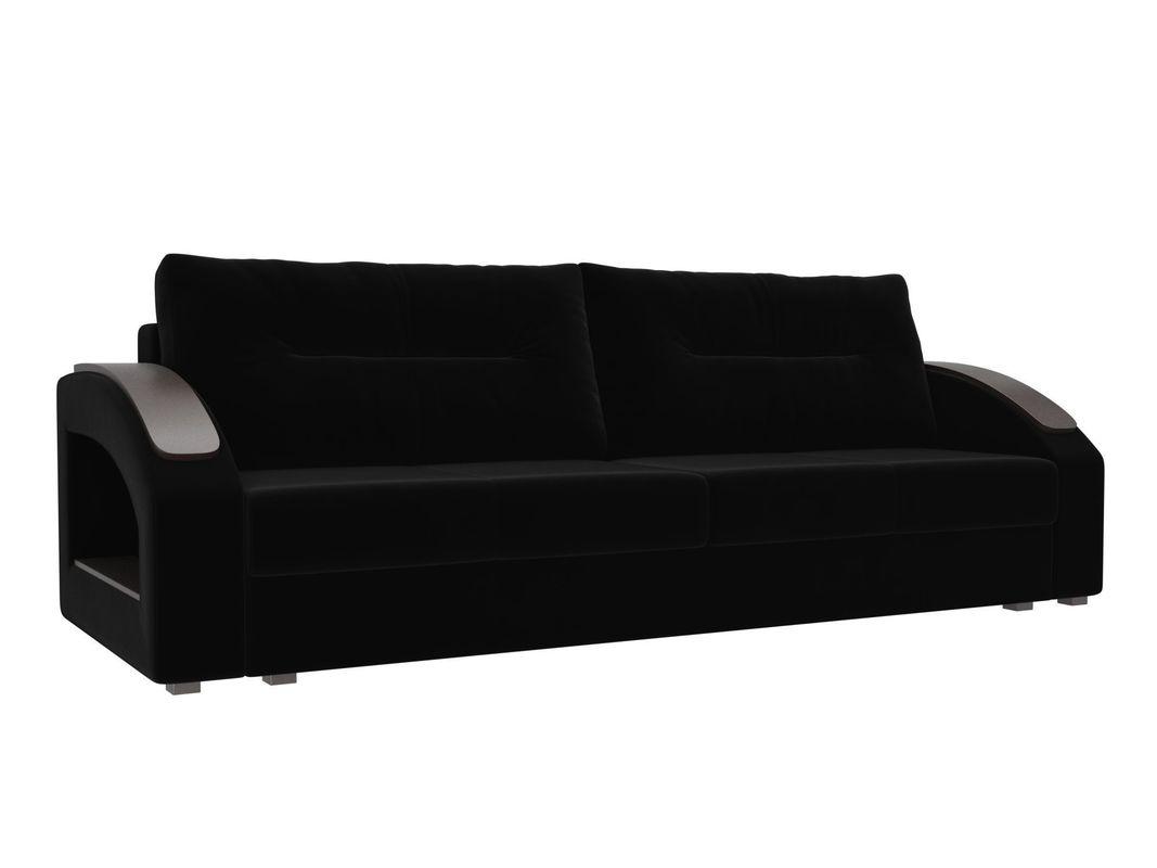 Диван ЛигаДиванов Канзас 100958 велюр черный - фото 1