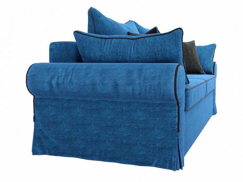 Диван Mebelico прямой Элис Велюр голубой - фото 5
