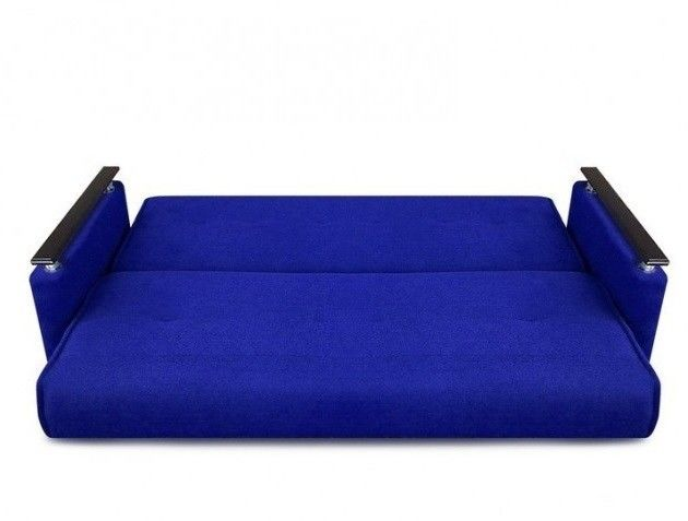 Диван Луховицкая мебельная фабрика Милан Люкс (Астра синий) пружинный 120x190 - фото 3