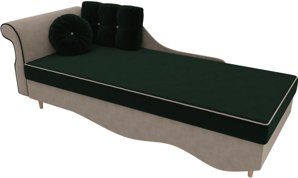 Диван Mebelico Лорд левый 101217 велюр зеленый/бежевый - фото 4