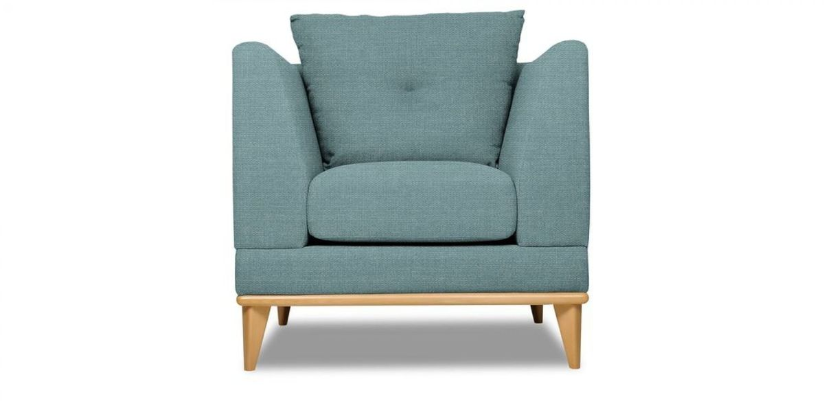 Кресло WOWIN Эстар (Бледно-васильковая рогожка) - фото 2