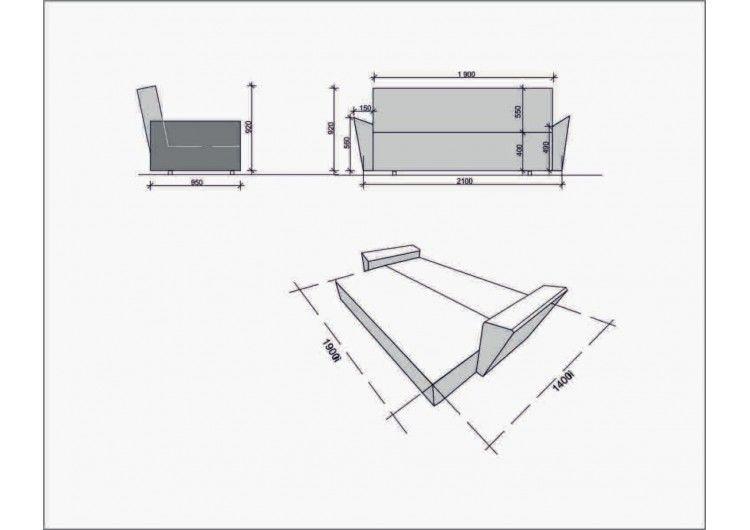 Диван Раевская мебельная фабрика Шинил синий 00442 - фото 2