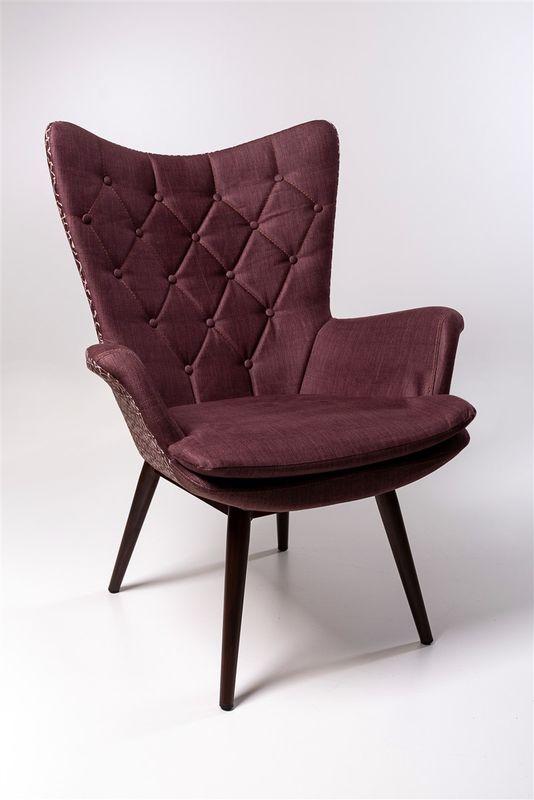 Кресло ФорестДекоГрупп Афакан (бордовый с узором) AFAKAN-BU - фото 1