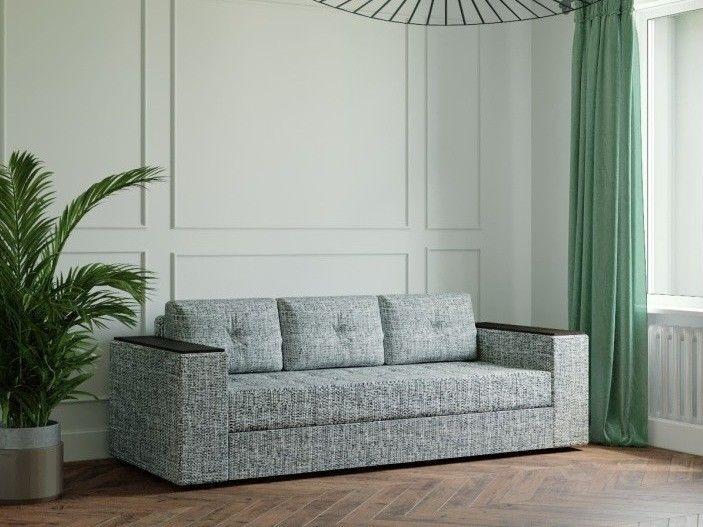 Диван Настоящая мебель Ванкувер Лайт с декором (модель: 00-0000345012) серый - фото 1
