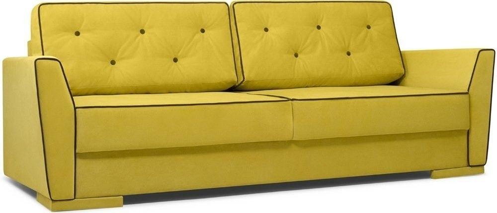 Диван Woodcraft Милан 150 Velvet Yellow - фото 1