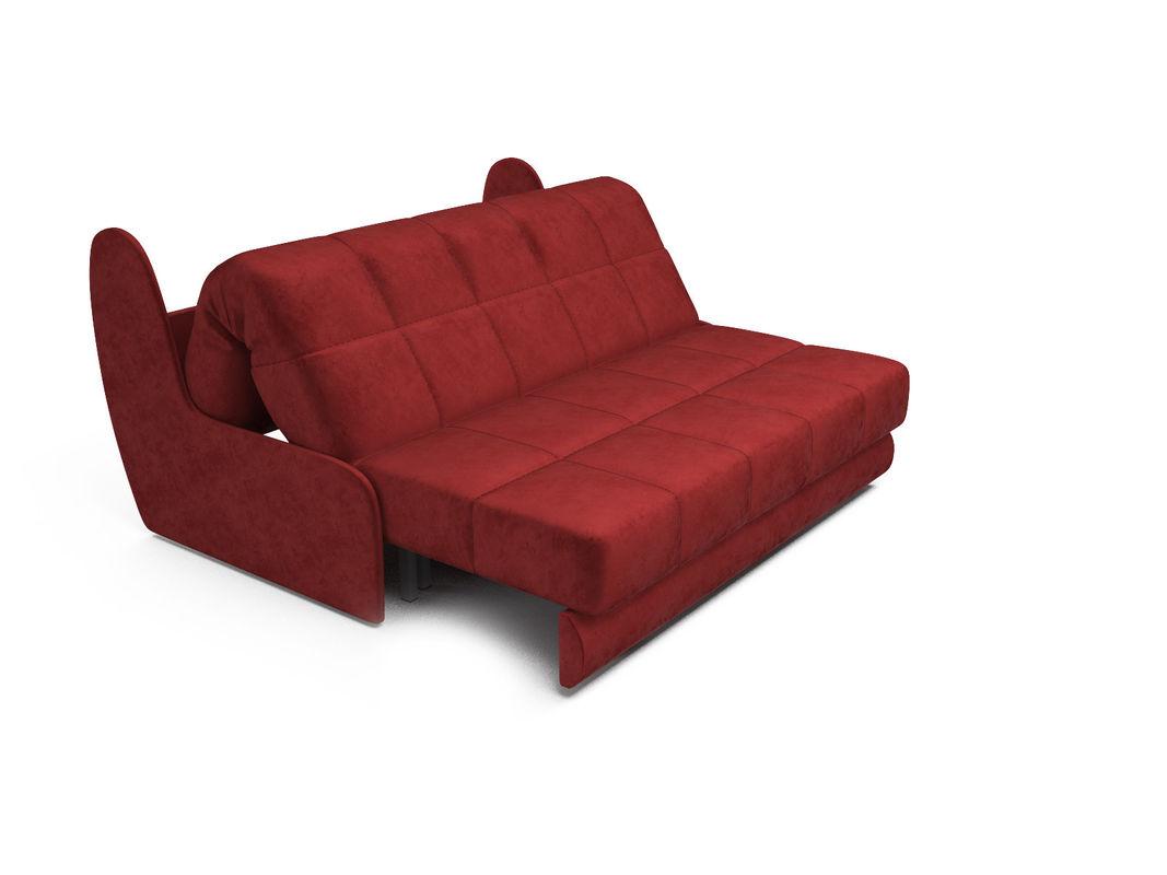 Диван Мебель-АРС Аккордеон Барон №2 (бархат красный  STAR VELVET 3 DARK RED) - фото 5