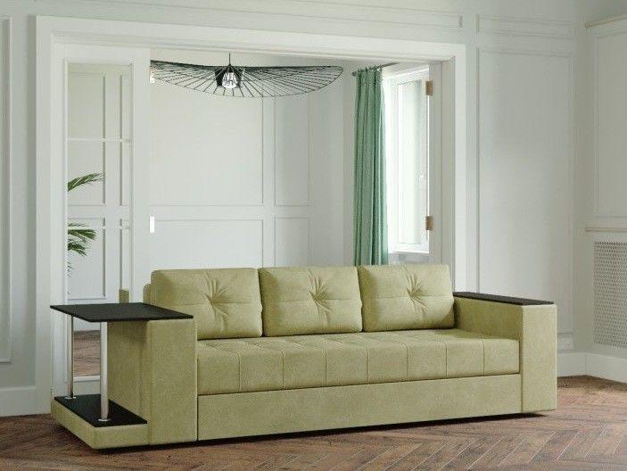 Диван Настоящая мебель Ванкувер Лайт со столом (модель 00-00003451) бежевый - фото 1