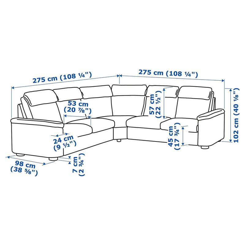 Диван IKEA Лидгульт [492.579.75] - фото 5