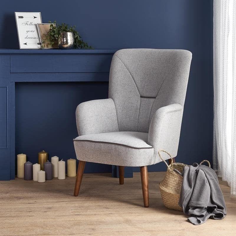 Кресло Halmar BISHOP (светло-серый/орех) V-PL-BISHOP-FOT - фото 1