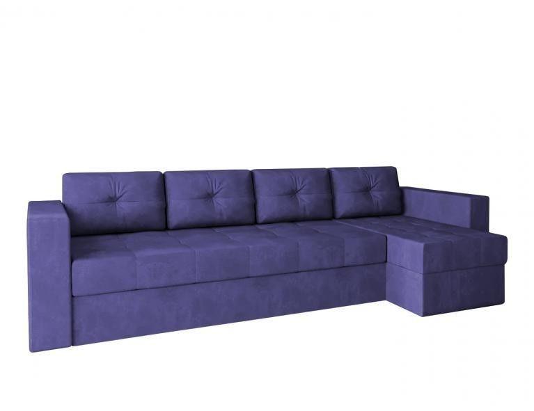 Диван Craftmebel Угловой Константин макси фиолетовый вельвет - фото 2