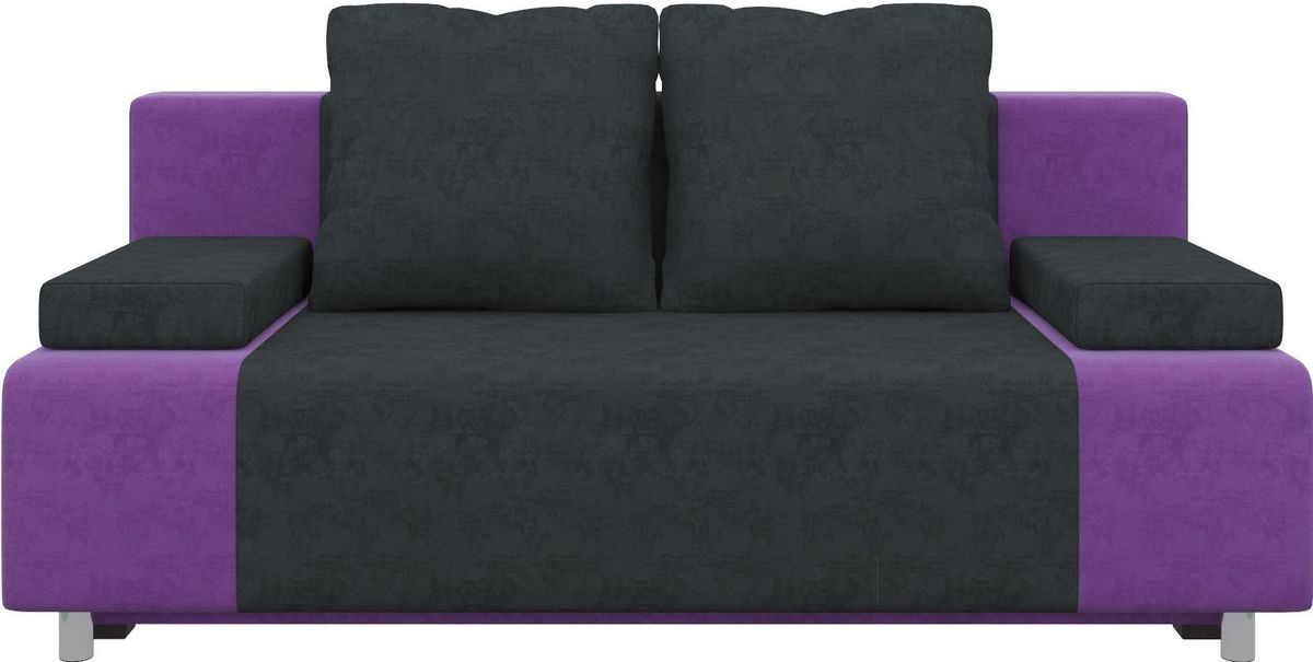Диван Mebelico Чарли 63 микровельв. фиолетовый/черный - фото 1
