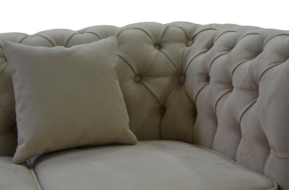 Диван Tiolly Честерфилд 3 250 см (серый) - фото 2
