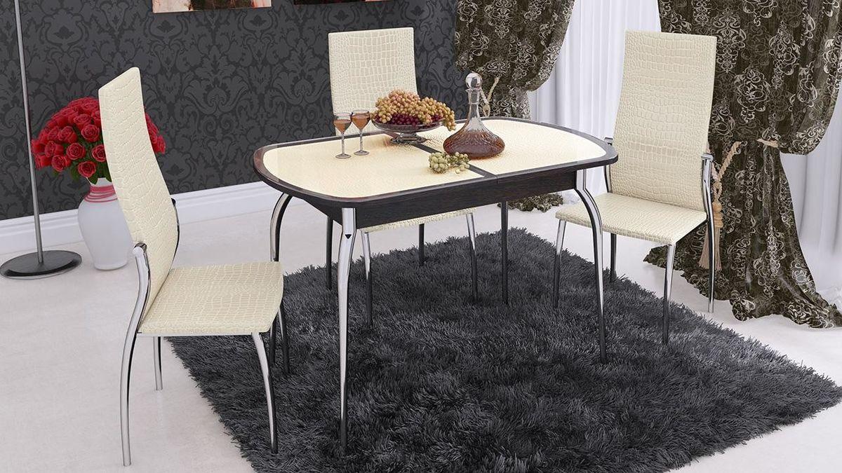 Обеденный стол ТриЯ Ницца 2 раздвижной на деревянных ножках - фото 3