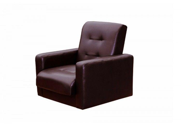 Кресло Луховицкая мебельная фабрика Аккорд коричневое (120х190) - фото 1