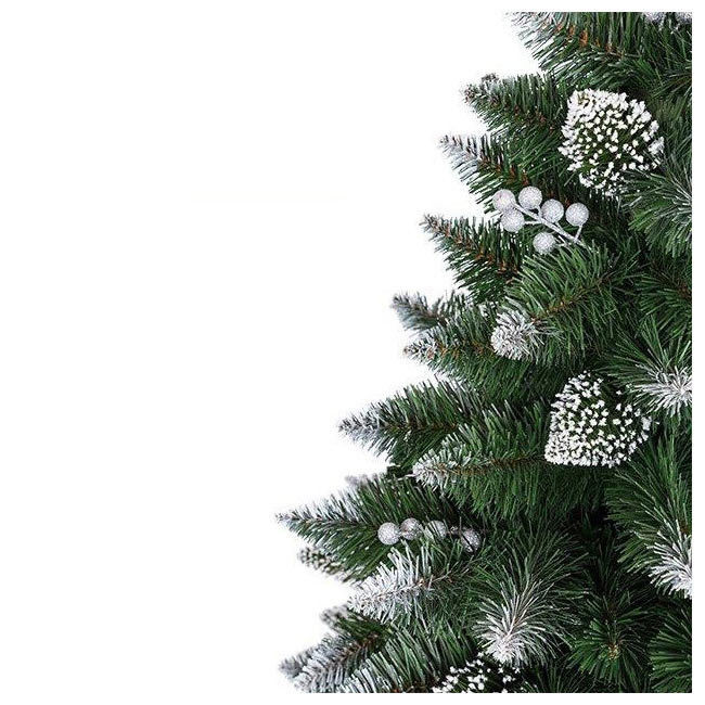 Новогодняя елка GrandSiti Снежная Королева с белым напылением и украшениями 250 см - фото 2