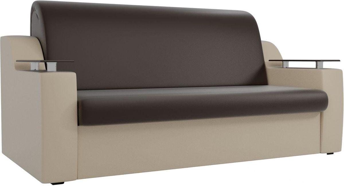 Диван Mebelico Сенатор 100725 100, экокожа коричневый/бежевый - фото 1