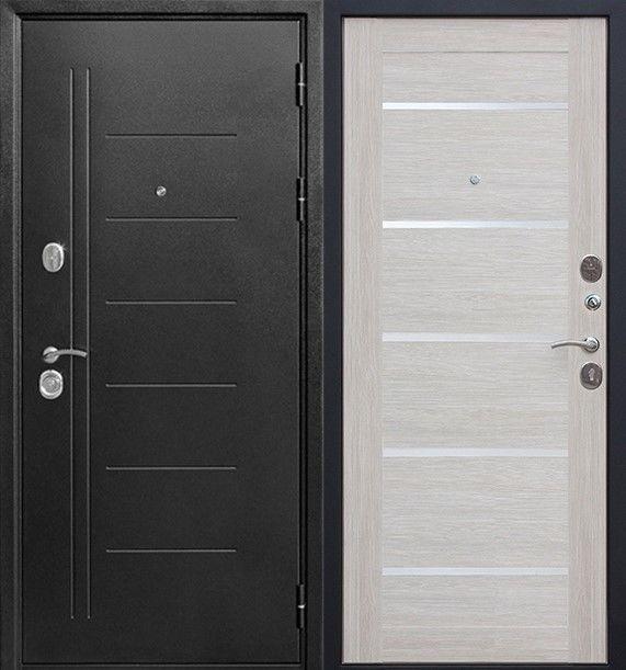 Входная дверь Гарда Троя Серебро Царга (Лиственница Беж) - фото 1