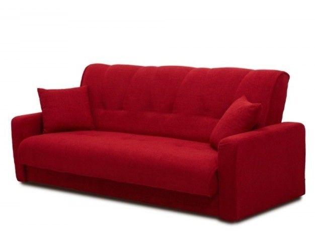 Диван Луховицкая мебельная фабрика Милан (Астра красный) пружинный 140x190 - фото 4