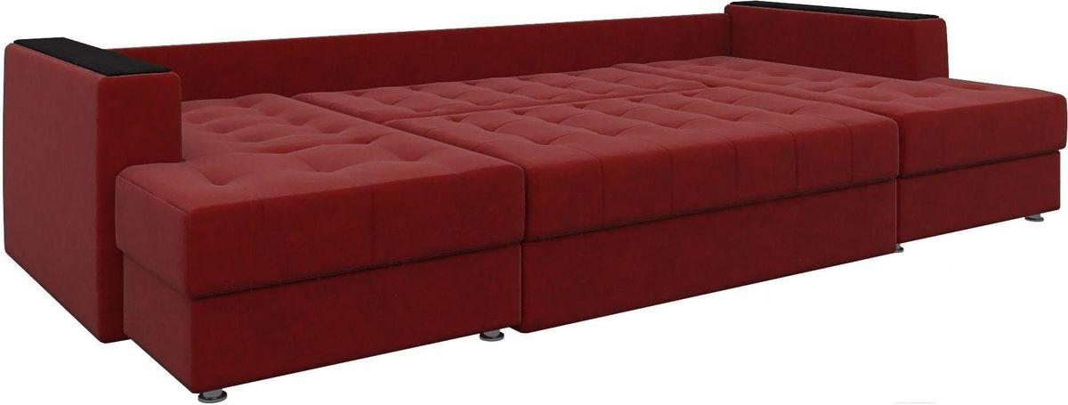 Диван Mebelico Эмир-П 85 микровельвет красный - фото 3
