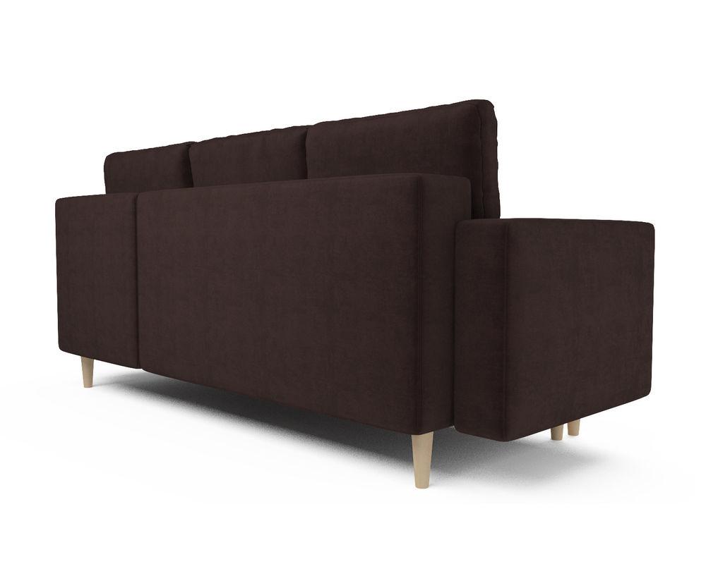 Диван Мебель-АРС Белфаст (велюр шоколадный / НВ-178/16) - фото 4