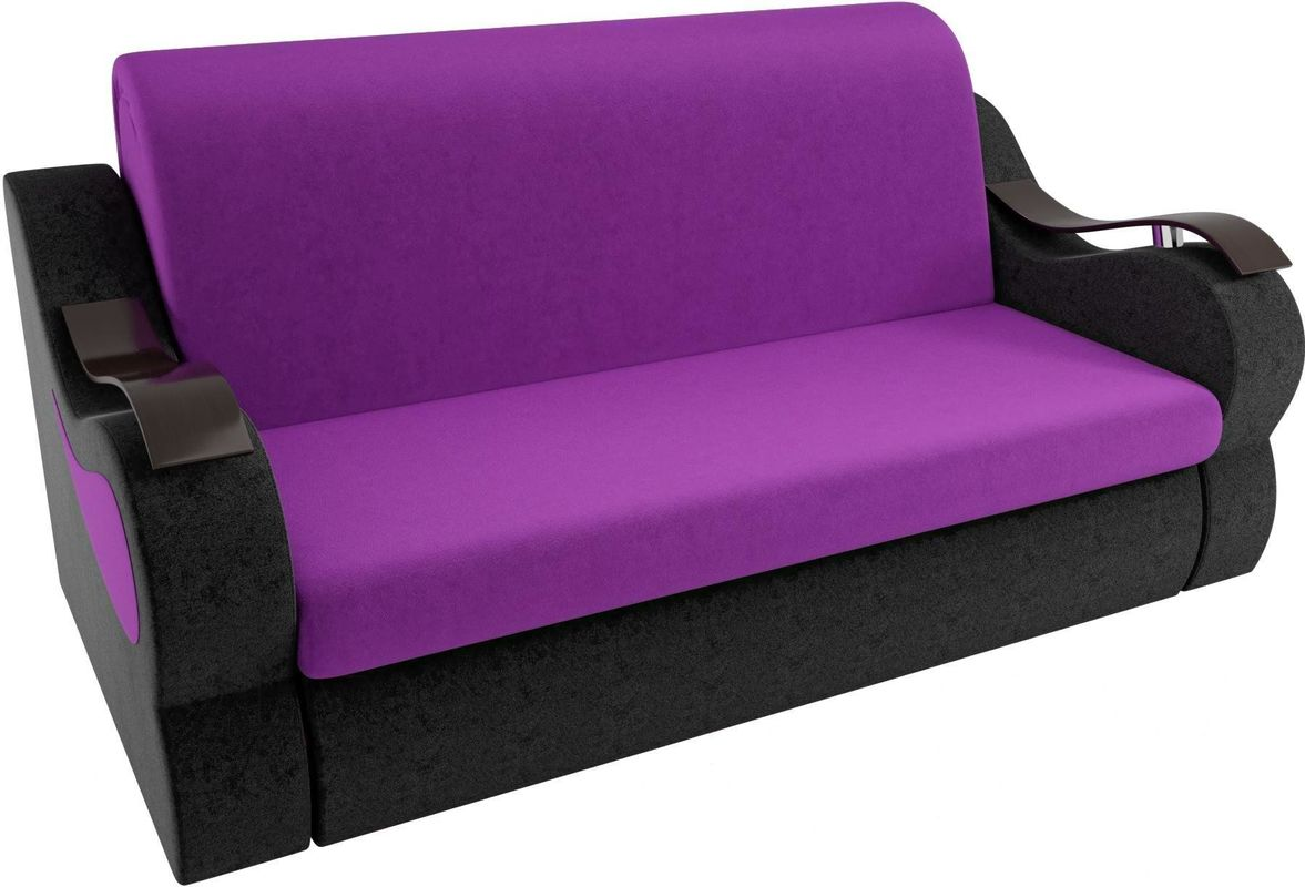 Диван Mebelico Меркурий 222 160,вельвет фиолетовый/черный - фото 2