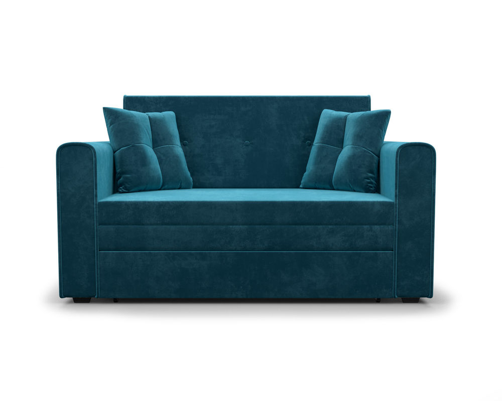 Диван Мебель-АРС Санта (бархат сине-зеленый  STAR VELVET 43 BLACK GREEN) - фото 2
