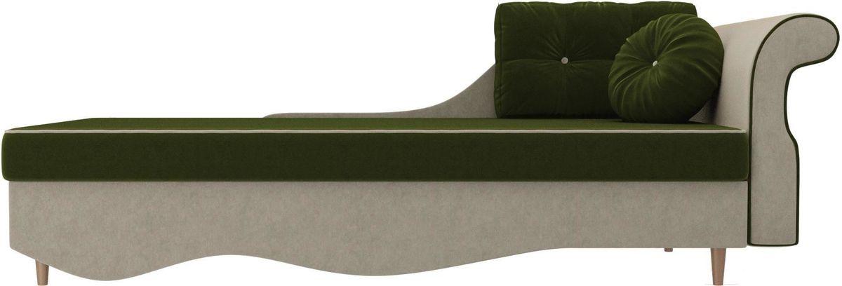 Диван Mebelico Лорд правый 101222 микровельвет зеленый/бежевый - фото 3