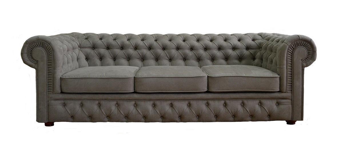 Диван Tiolly Честерфилд 3 250 см (серый) - фото 3