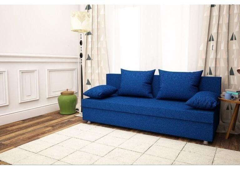 Диван Craftmebel прямой 3 синий вельвет - фото 1