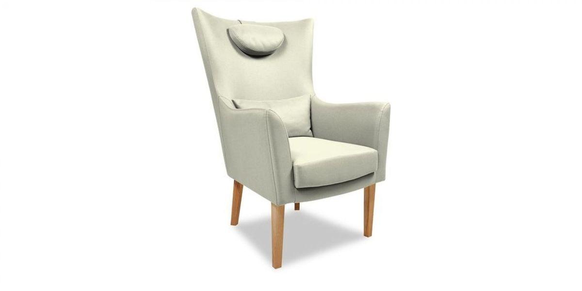 Кресло WOWIN Элеганза высокое (Кремовый велюр) - фото 1