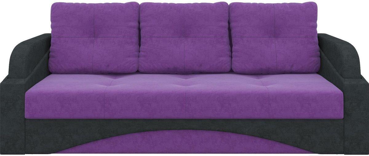 Диван Mebelico Панда 70 микровельвет фиолетовый/черный - фото 2