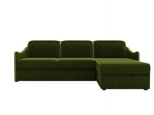 Диван ЛигаДиванов Скарлетт 125 угловой левый 60675 вельвет зеленый - фото 4