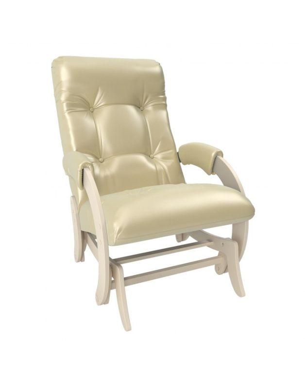 Кресло Impex Кресло-гляйдер Модель 68 экокожа сливочный (oregon 106) - фото 1