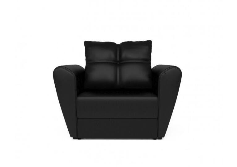 Кресло Craftmebel Квартет - экокожа черная - фото 7