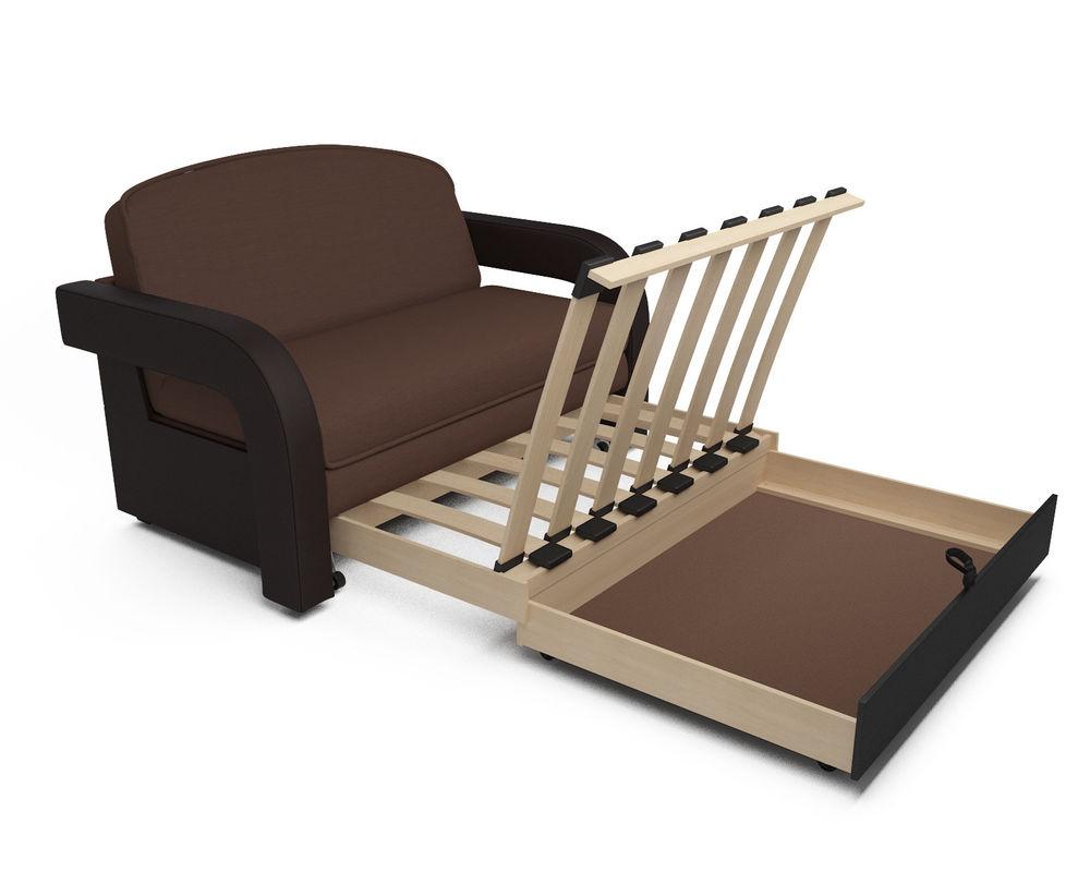 Диван Мебель-АРС Кармен-2 (рогожка шоколад + экокожа) - фото 5