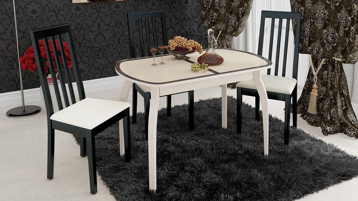 Обеденный стол ТриЯ Ницца 2 раздвижной на деревянных ножках - фото 12