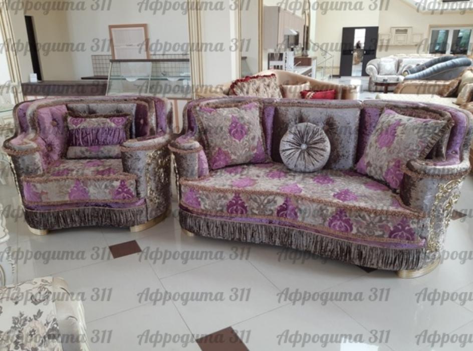 Набор мягкой мебели Устье Афродита 311 (сирень) - фото 1