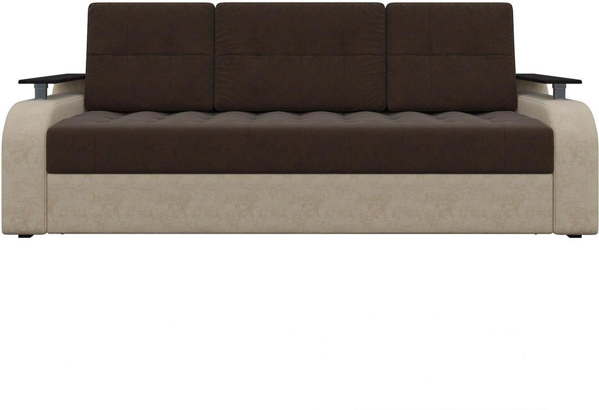 Диван Mebelico Ричард 483 вельвет коричневый/бежевый - фото 2