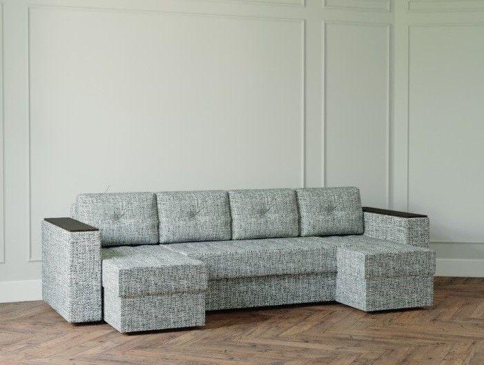 Диван Настоящая мебель Ванкувер Лайт с декором (модель: 6666) серый - фото 1