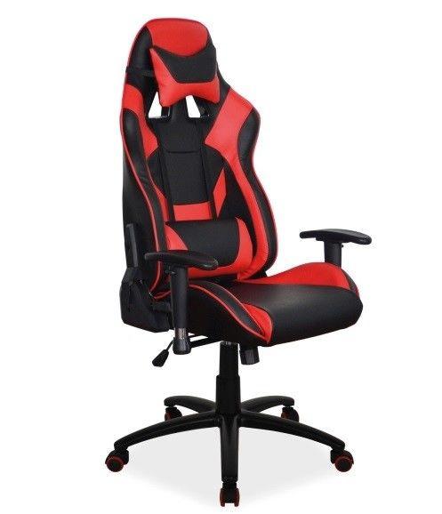 Офисное кресло Signal Supra (черный/красный) - фото 1