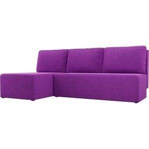 Диван АртМебель Поло угол левый микровельвет фиолетовый - фото 1