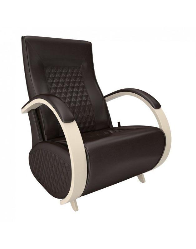 Кресло Impex Balance-3 экокожа сливочный (dundi 109) - фото 3
