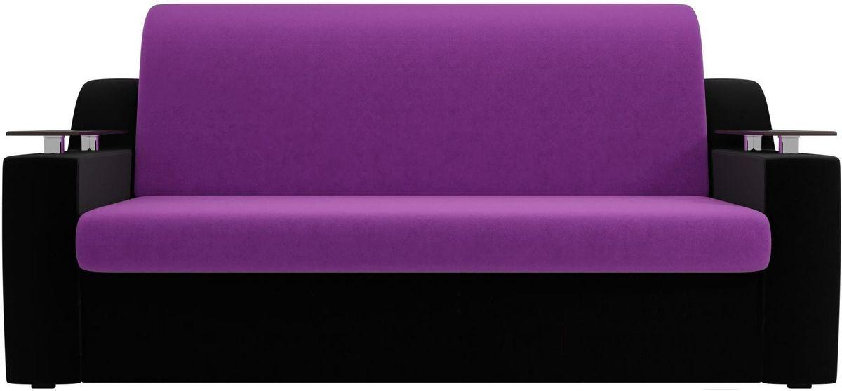 Диван Mebelico Сенатор 100714 120, микровельвет фиолетовый/черный - фото 1