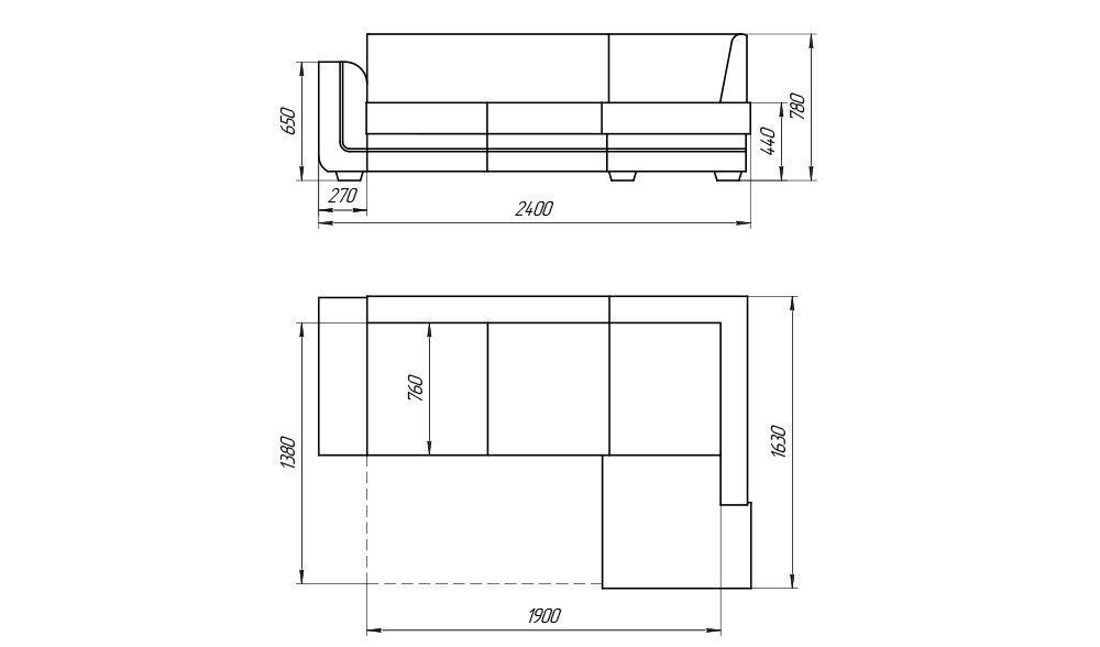 Диван Лама-мебель Дельфин 3 (угловой) - фото 4