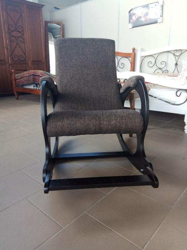 Кресло Бастион 4-2 с подножкой рогожка темная - фото 4