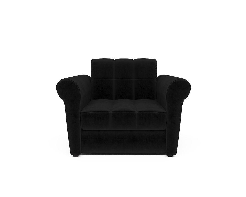 Кресло Мебель-АРС Гранд черный велюр (НВ-178/17) - фото 2