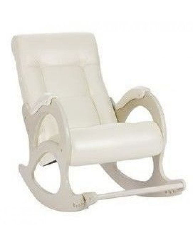 Кресло Impex Модель 44 б/л сливочный экокожа (mango 002) - фото 1