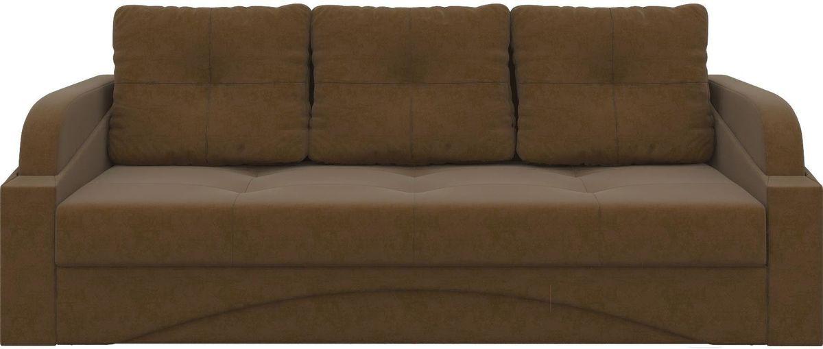 Диван Mebelico Панда 70 микровельвет коричневый - фото 1