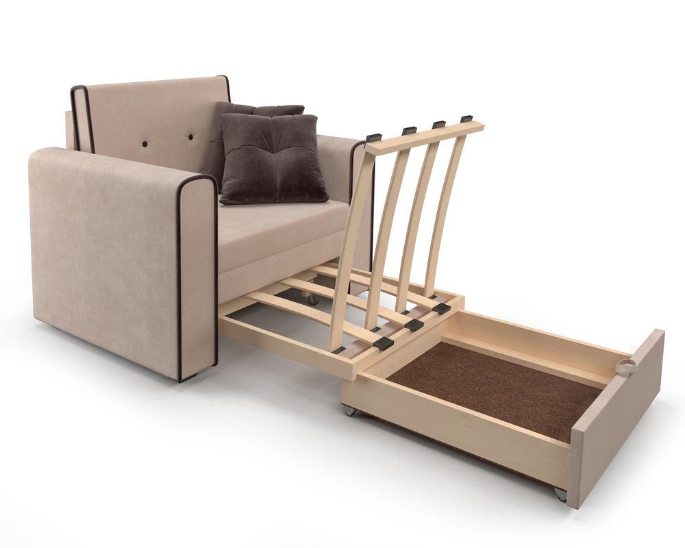 Кресло Мебель-АРС Санта (кордрой бежевый) - фото 7